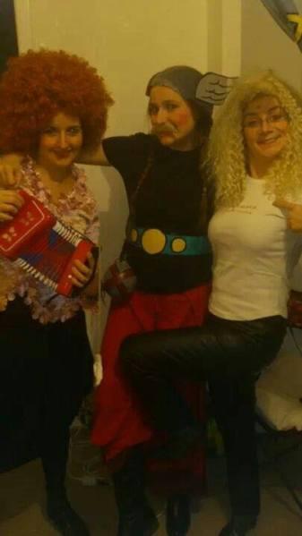 Costume Axtérix avec les filles