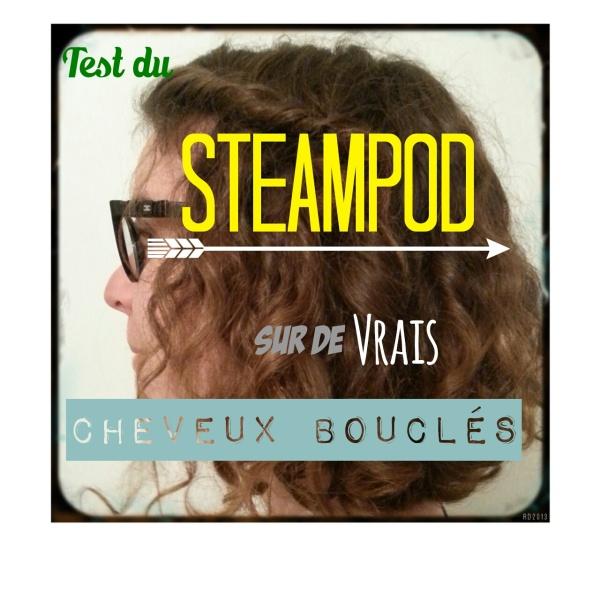 Test du steampod sur cheveux bouclés