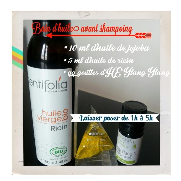 Bain d'huile avant shampoing ricin et jojoba