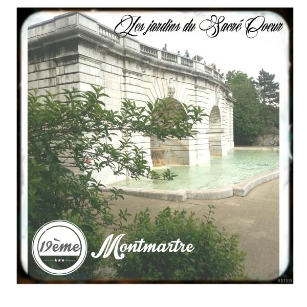 Jardins du sacré coeur 19ème montmartre