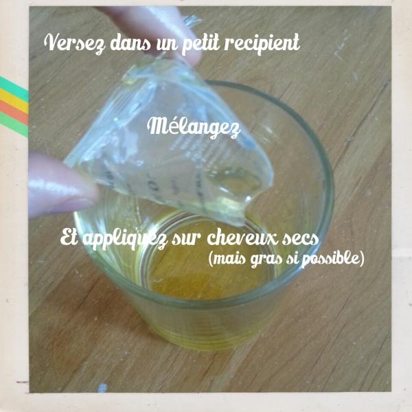 Le mélange huile de ricin et jojoba