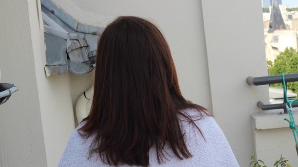 cheveu lisse de derrière