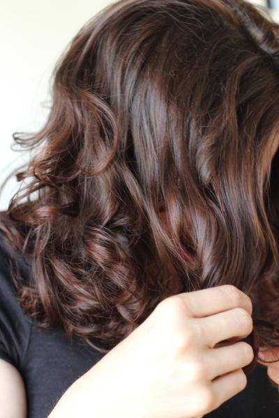 inspection des cheveux auburn