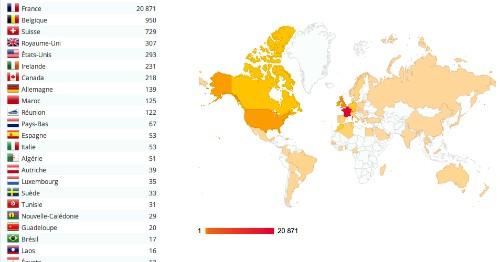 Stat carte du monde blog cheveux