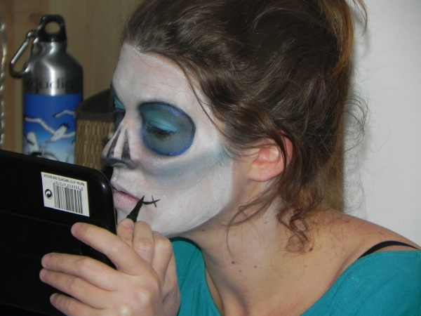 préparation halloween bleue