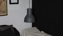 peinture noire salon noir et blanc