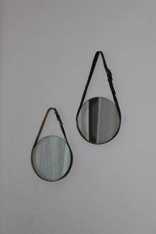DIY miroir en déco, avec une ceinture